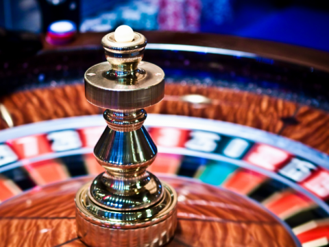 A picture of a roulette wheel