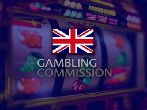 UKGC logo on slot machine background